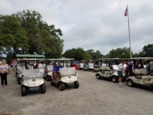 Cause Fore Paws Golf Cart Line Up